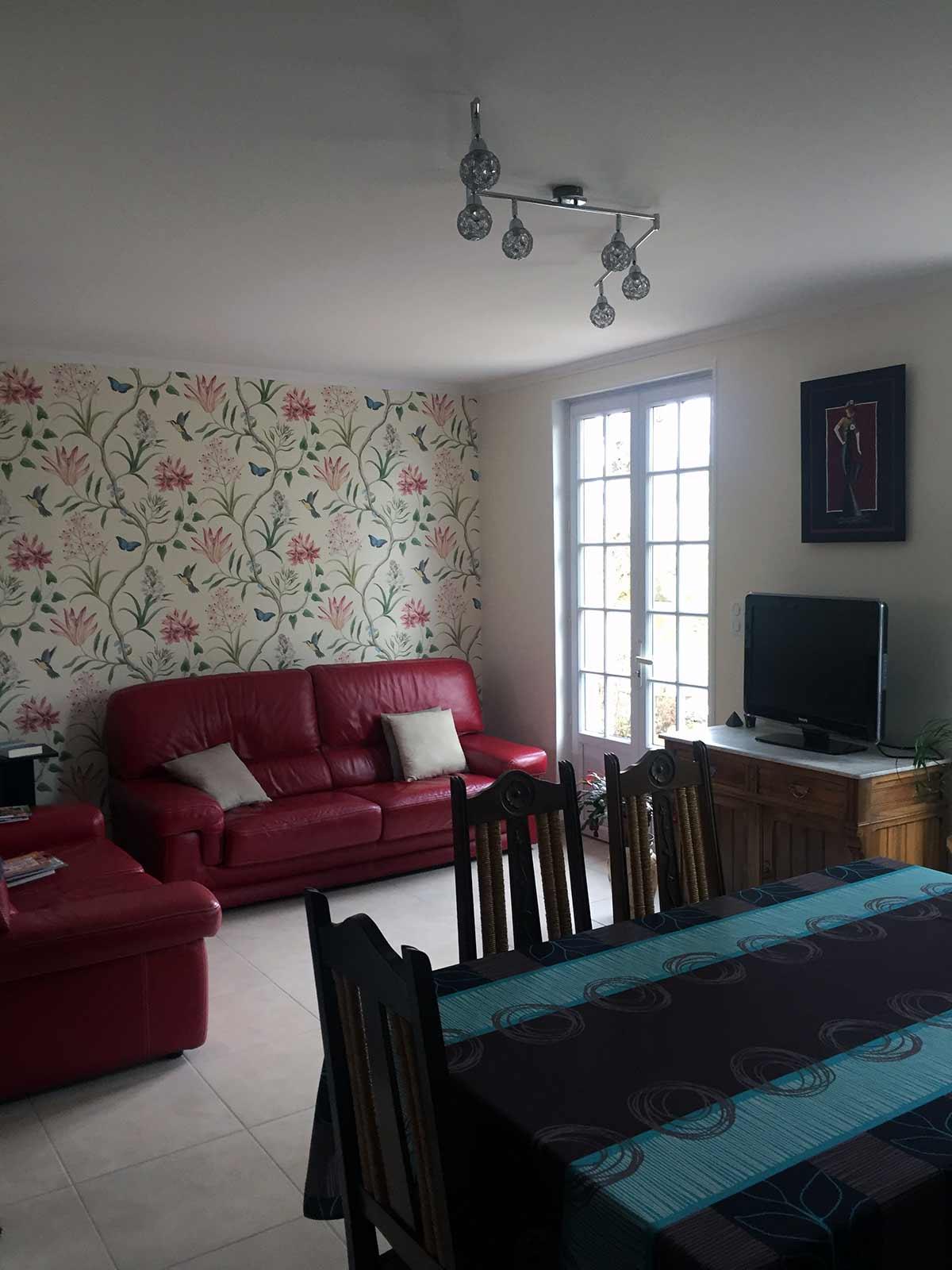 papier peint sanderson a tours duchesne d cors peintre d corateur tours 37. Black Bedroom Furniture Sets. Home Design Ideas