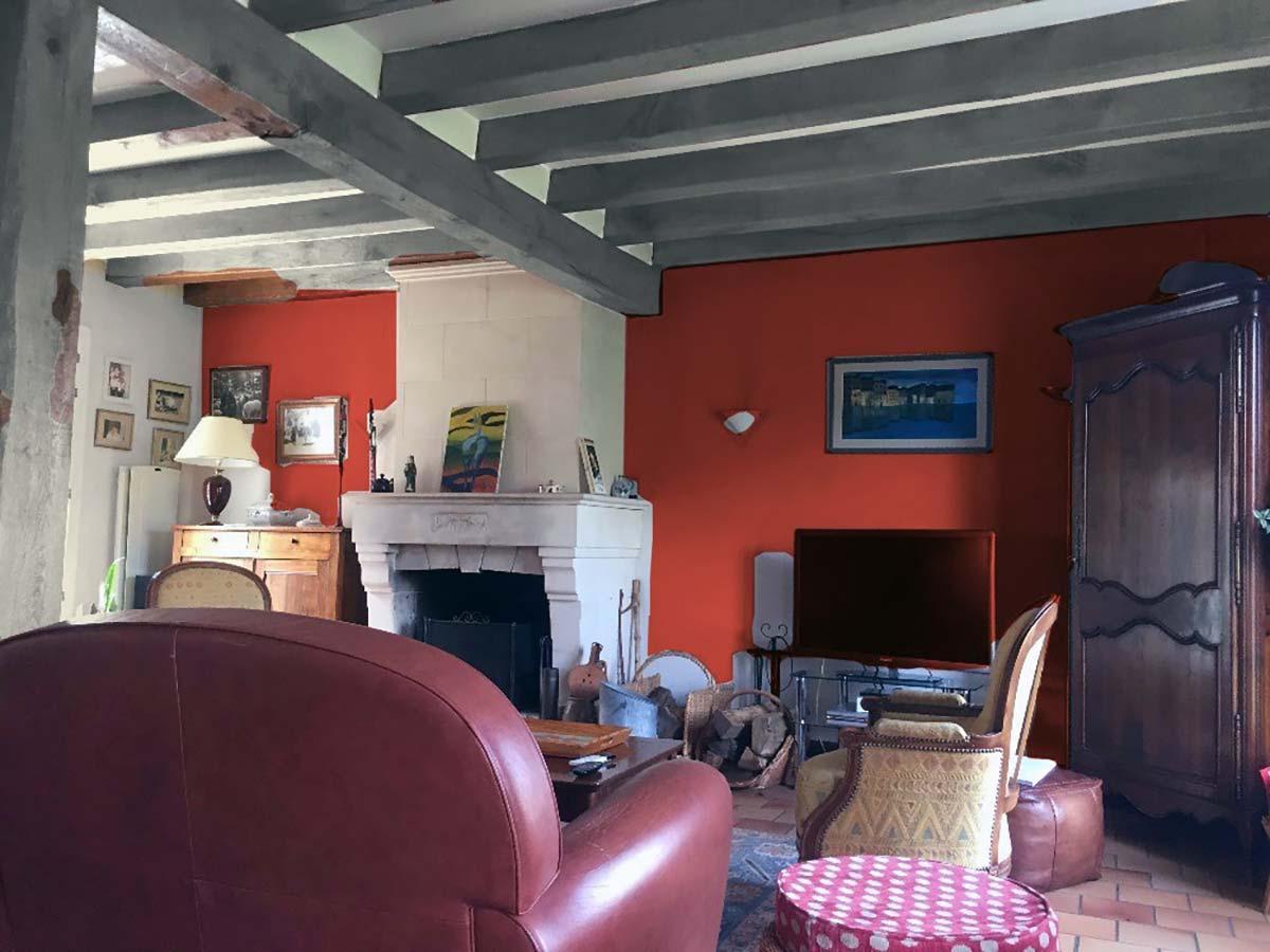 Choix Couleurs Murs. Elegant Photo Dun Mur Peint En Deux Tons With ...